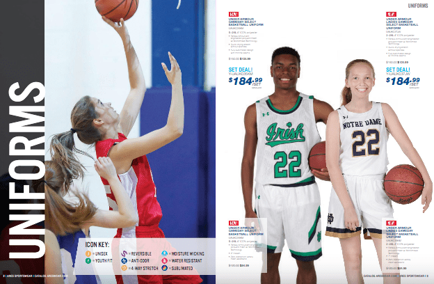 custom apparel for youth sports teams is a big part of ARES Sportswear's latest winter sports catalogs!