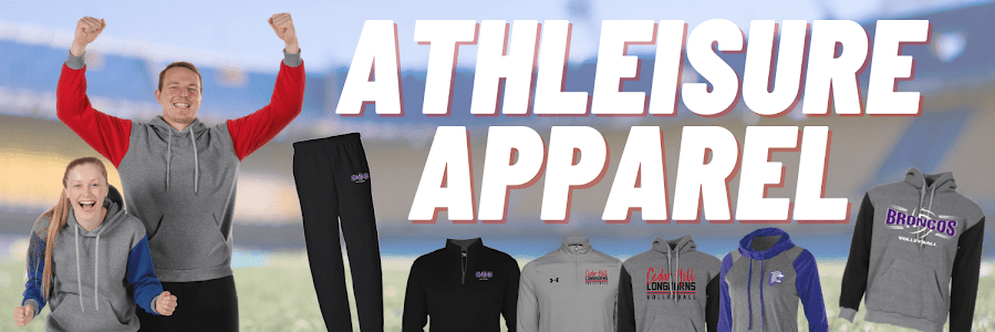 athleisure apparel is a wildly popular custom apparel trend within the ARES Sportswear online inventory