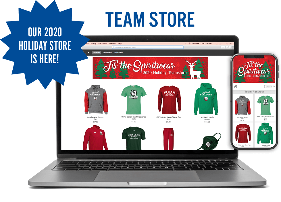 online team stores from ARES Sportswear always help schools and youth sports teams with spiritwear sales