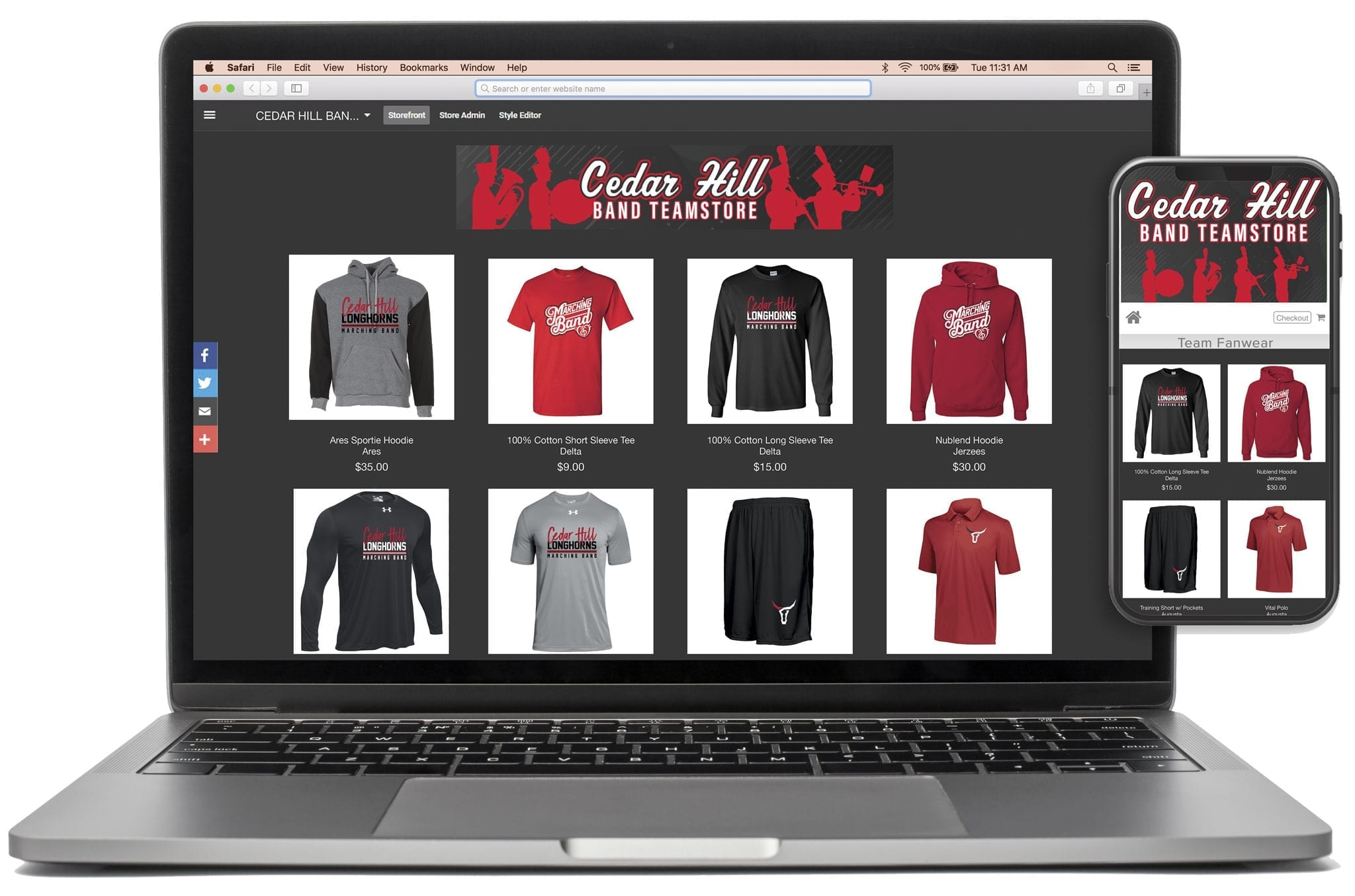 Marching Band Teamstore